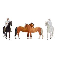 Arab man and woman on horseback vector