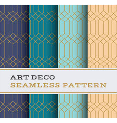 art deco seamless pattern 38 vector image