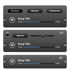 Audio Player vector image