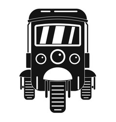 Auto rickshaw icon simple style vector