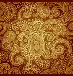 background damask pattern vector image