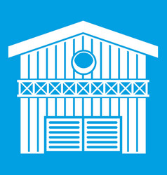 Barn for animals icon white vector