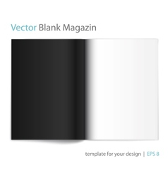 Black and white page magazine vector