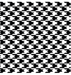 Black houndstooth pattern classical vector