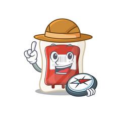 Blood bag stylized explorer having a compass vector
