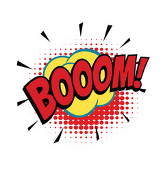 boom comic word vector image