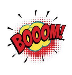 Boom comic word vector