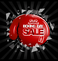 Boxing day sale design of boxing gloves and text vector