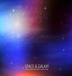 bright colors space background vector image