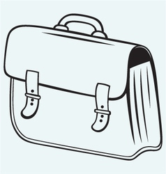 Business briefcase vector image vector image