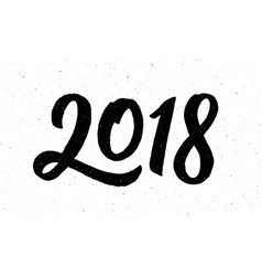 Calligraphy for 2018 new year of the dog vector