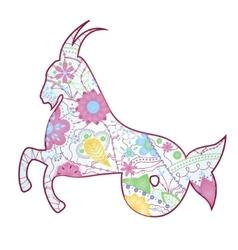 Capricorn zodiac sign gradient vector