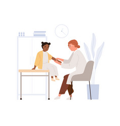 Child patient at doctor appointment pediatrician vector