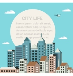 City flat vector image