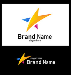 colorful star logo design element logo star vector image