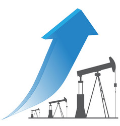 crude oil price up trend vector image