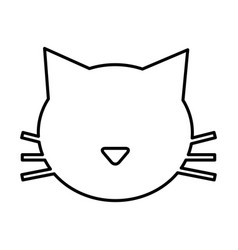 cute cat mascot silhouette isolated icon vector image