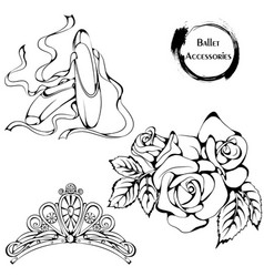 Dance line ballet accessories vector