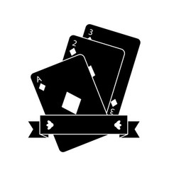 diamonds suit emblem french playing cards related vector image