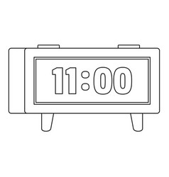 digital clock icon outline style vector image