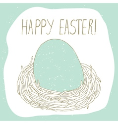 Easter greeting with nest vector