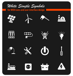 electricity icon set vector image
