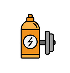 Energy drink icon sport drink bottle with dumbell vector