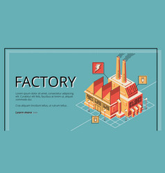 factory energy generation plant building banner vector image