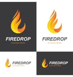Fire flame drop logo vector image