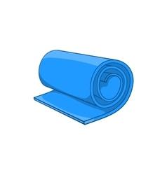 Fitness mat icon cartoon style vector