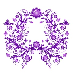 floral ornament frame vector image vector image