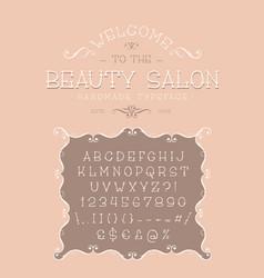 font beauty salon vector image