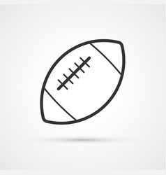 football american flat black icon vector image