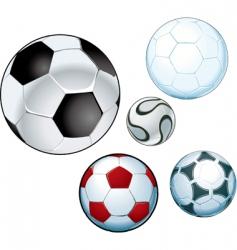 footballs vector image vector image