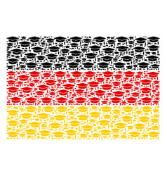 german flag pattern of graduation cap items vector image