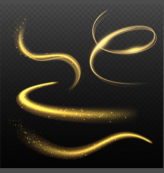 Glowing effects lighting shapes with sparks vector
