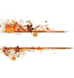 Grunge halloween banner vector