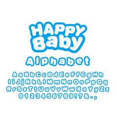 happy baby english alphabet vector image