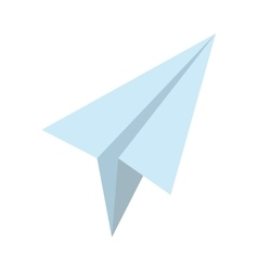 icon paper plane design isolated vector image