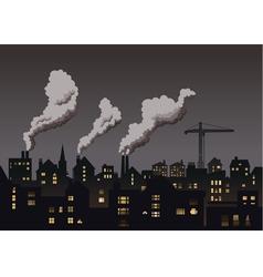 Industrial Town Grey vector