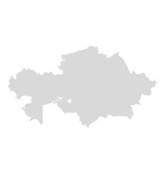 Kazakhstan map central asia kazakstan vector