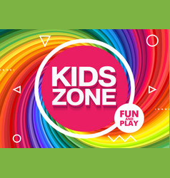Kids zone children playground playground school vector