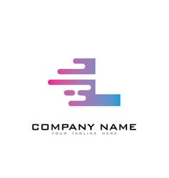 L speed letter logo icon design vector