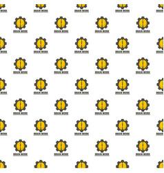 logic brain work pattern seamless vector image