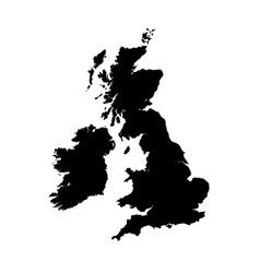 Map great britain isolated vector