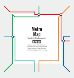 Metro map rapid transit vector