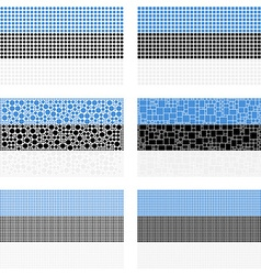 Mosaic Estonia flag set vector