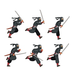 Ninja Running Game Sprite vector