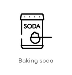 Outline baking soda icon isolated black simple vector