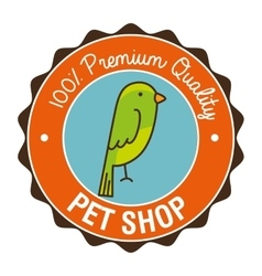 Parrot pet shop icon vector